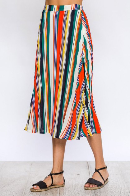 STRIPE PLEAT SKIRT - orangeshine.com