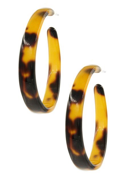 Celluloid Hoop Earrings - orangeshine.com