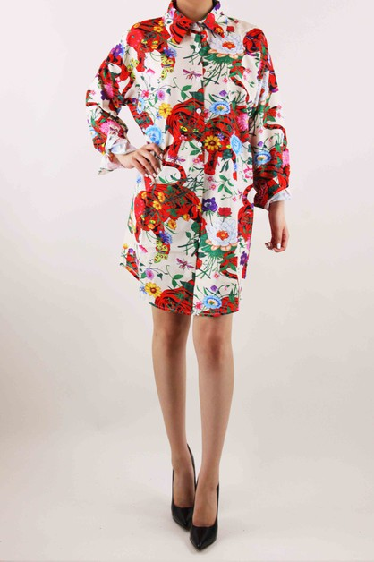 Floral Print Dress - orangeshine.com