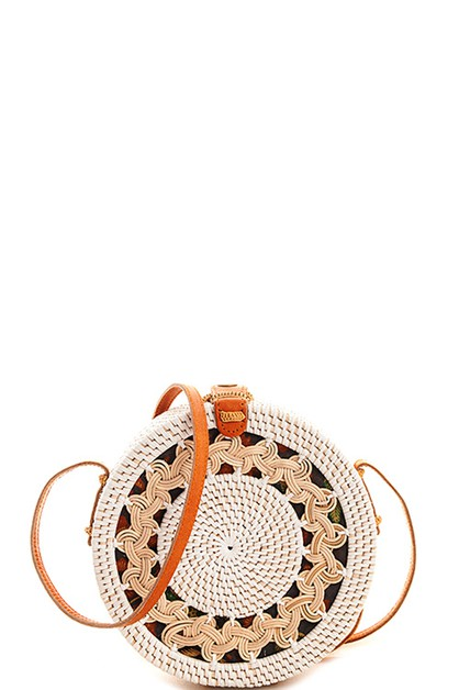 Hot Trendy Cute Straw Woven Round Cr - orangeshine.com