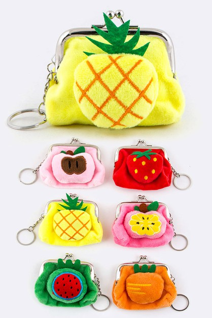 Plushy Fruit Coin Purses Set - orangeshine.com