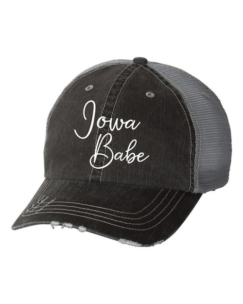 Iowa Babe Trucker Hat - orangeshine.com