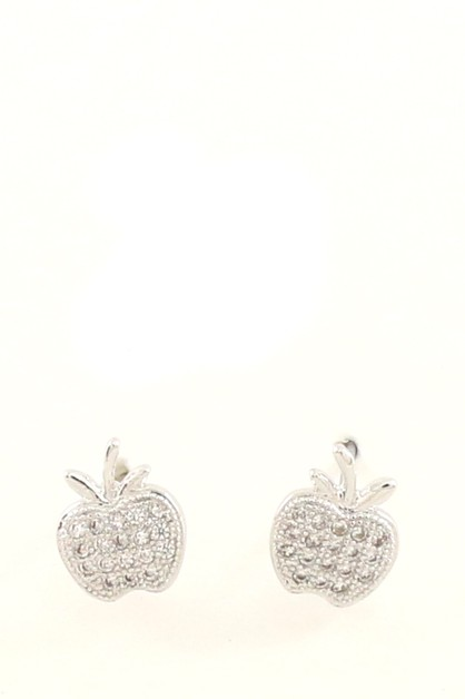 CZ POST EARRING  - orangeshine.com