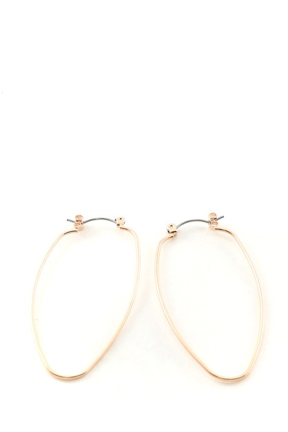 METAL HOOP EARRINGS - orangeshine.com