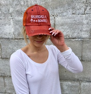 Backroads and Bonfies Trucker Hat - orangeshine.com