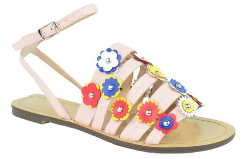 HAPPY-1-IT Flat Heel Sandals - orangeshine.com