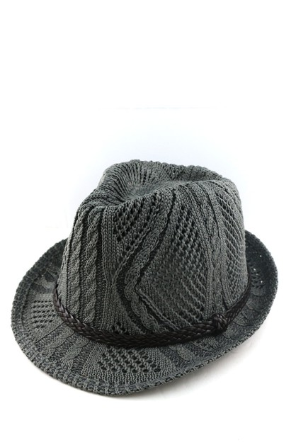 Natural straw with band Fedora Hat - orangeshine.com