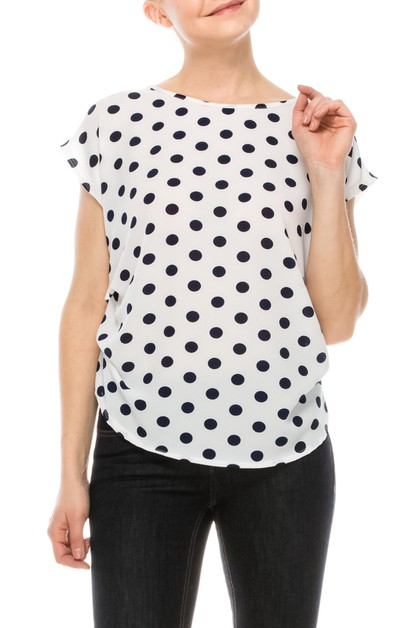 Polka Dot Blouse - orangeshine.com