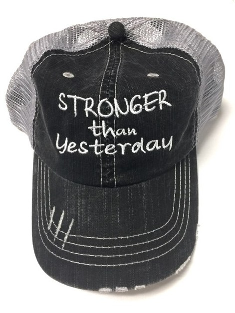 Stronger Than Yesterday Trucker Hat - orangeshine.com