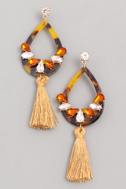 Tropical Fantasy Jewel Tassel Dangle - orangeshine.com