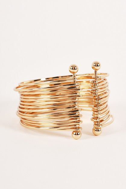 Layered Dangle Wire Cuff Bracelets - orangeshine.com