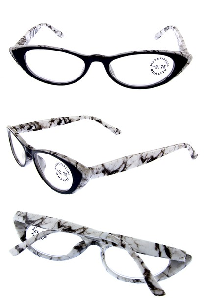 Rhinestone  Vintage Cat Eye Readers - orangeshine.com