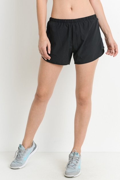 Solid Lined Dolphin Shorts with Elas - orangeshine.com