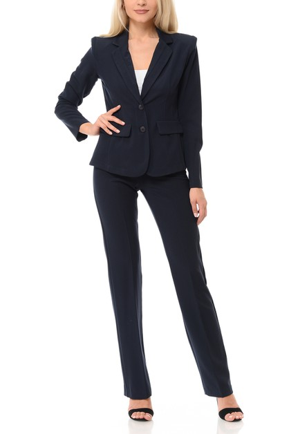 Basic  Work Office Pants Suit Set - orangeshine.com
