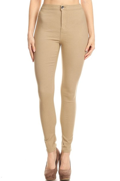 HIGH WAIST STRETCH SKINNY PANTS - orangeshine.com