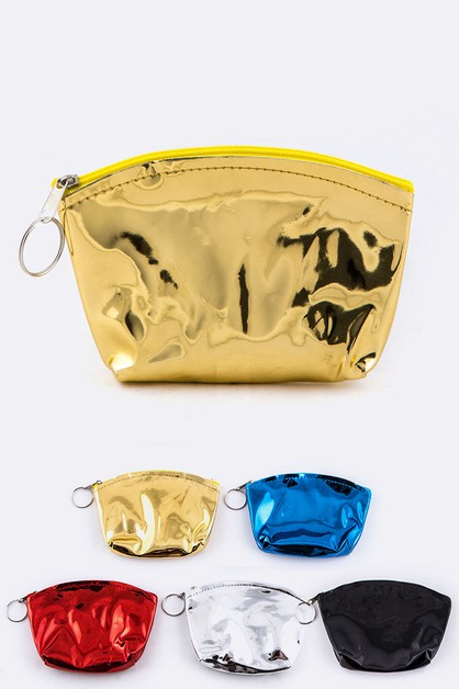 Metallic Coin Purses Set - orangeshine.com
