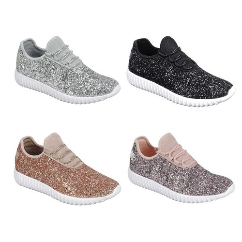 REMY-18Women Glitter Slip On Sneaker - orangeshine.com