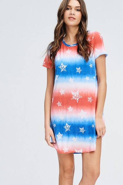 STAR TIE DYE DRESS - orangeshine.com