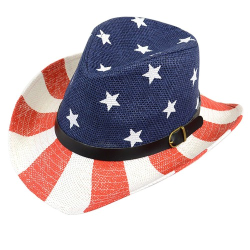 American Flag Cow Boy Hat  - orangeshine.com