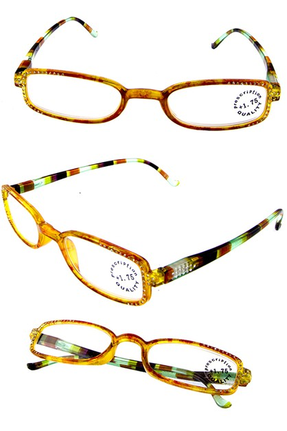 Square Reading Glasses Rhinestones - orangeshine.com