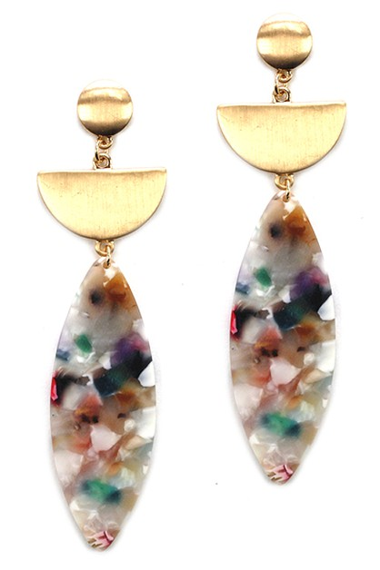 Drop Cellulose Earrings - orangeshine.com
