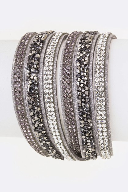 Crystal Layer Wrapped Cuff - orangeshine.com