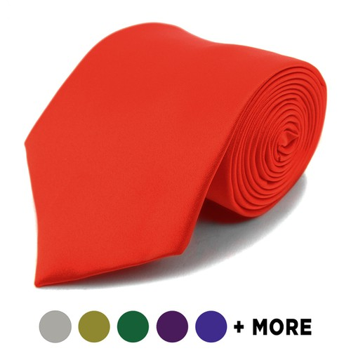 Men Poly Solid Satin Tie - orangeshine.com
