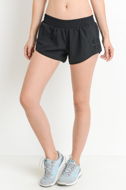 Mesh Panel Lined Dolphin Shorts with - orangeshine.com