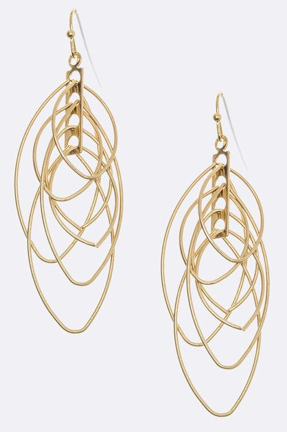 Linked Hoop Earrings - orangeshine.com