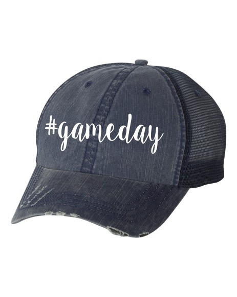 hashtag gameday Trucker Hat - orangeshine.com