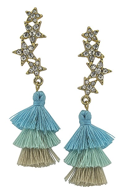 Little stars with tassel earrings - orangeshine.com