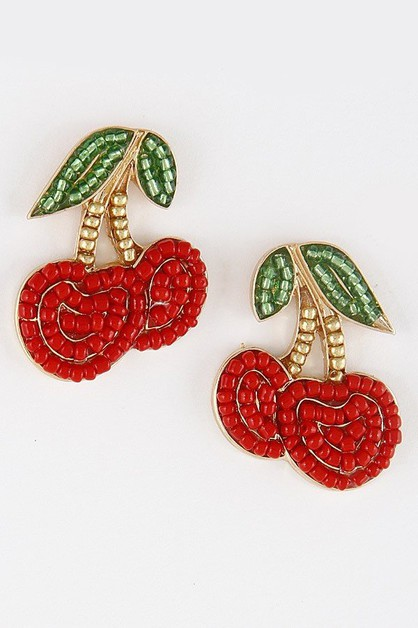 Your Cherry Beaded Earrings 8acd9 - orangeshine.com