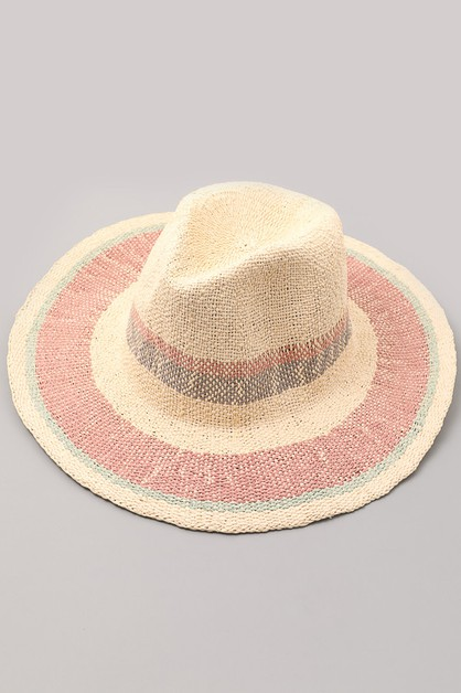 Crimson Blush Sun Raffia Hat - orangeshine.com