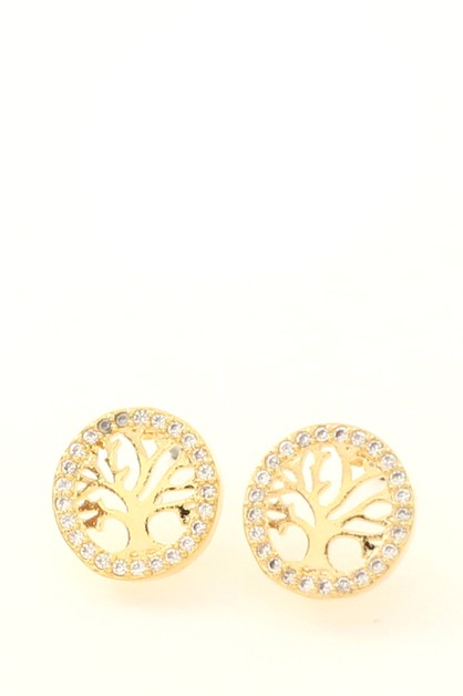 CZ POST  EARRINGS - orangeshine.com