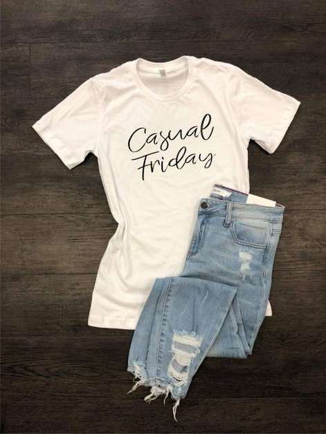 Casual Friday Crew Neck Tee - orangeshine.com