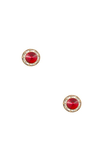 ROUND CRYSTAL POST EARRING  - orangeshine.com
