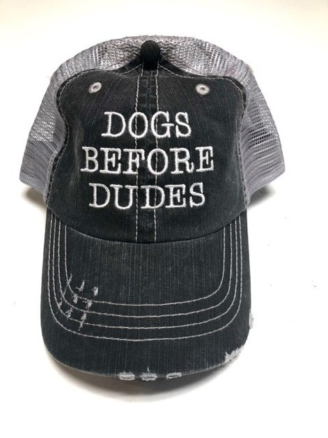 Dogs Before Dude Trucker Hat - orangeshine.com