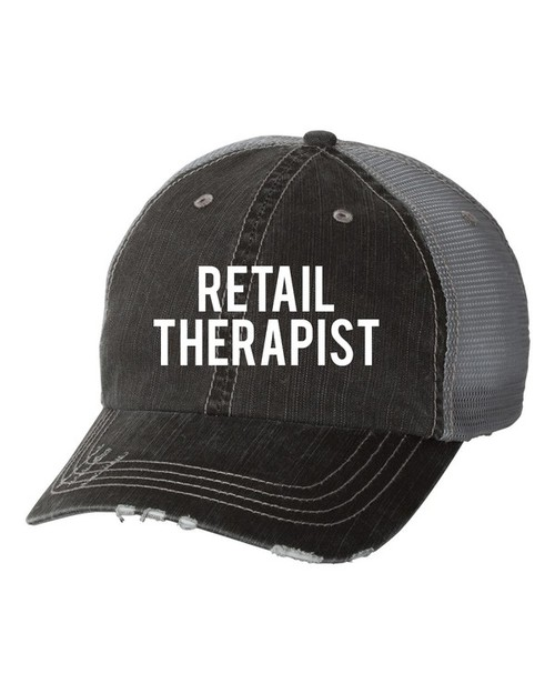 Retail Therapist Trucker Hat - orangeshine.com