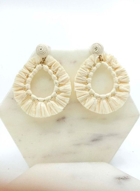 Raffia Earrings - orangeshine.com
