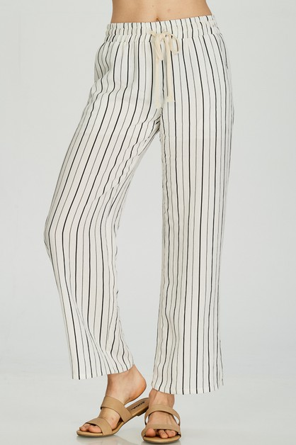 STRIPED PALAZZO LOUNGE PANTS - orangeshine.com