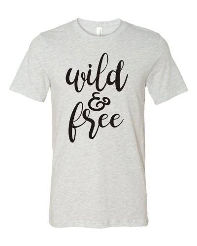Wild and Free Crew Neck Tee - orangeshine.com