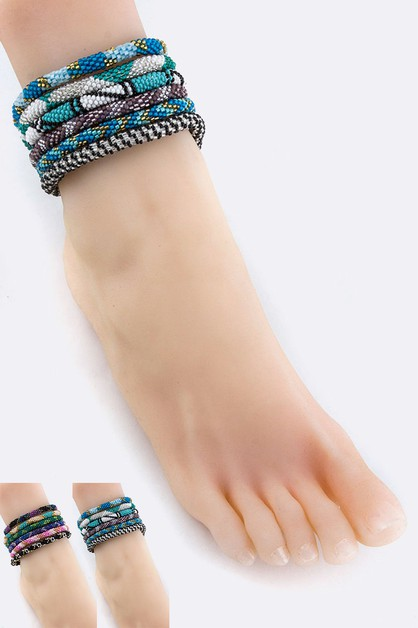 Nepal Roll On Anklet Set - orangeshine.com