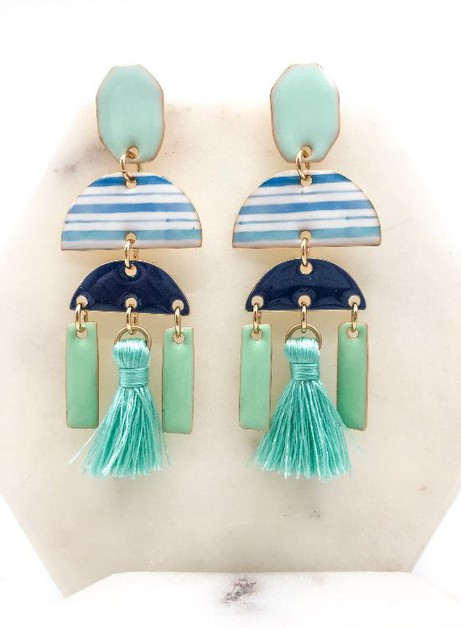Statement Tassel Earrings - orangeshine.com