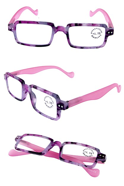 Plastic squareshaped reading glasses - orangeshine.com