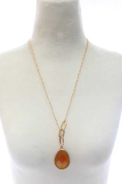 STONE PENDANT NECKLACE  - orangeshine.com