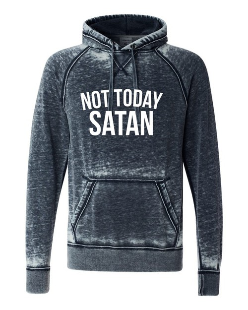 Not Today Satan Vintage Hoodie - orangeshine.com