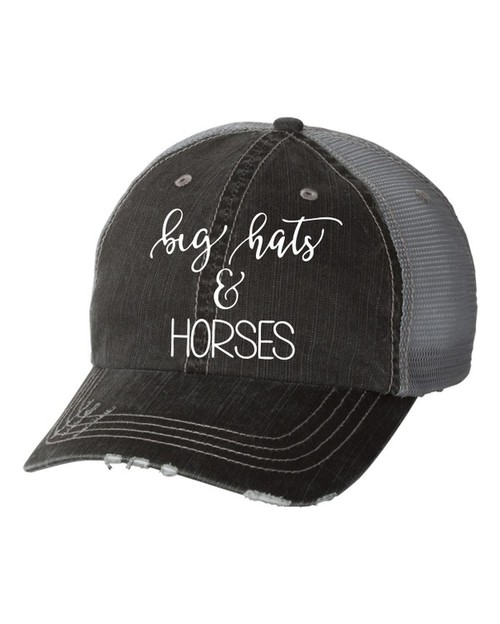 big hat and HORSES Trucker Hat - orangeshine.com