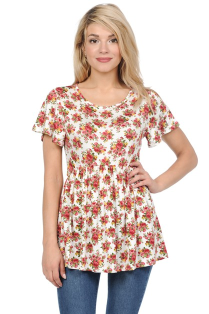 Floral Swing Top - orangeshine.com