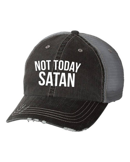 Not Today Satan Trucker Hat - orangeshine.com