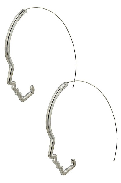 Beautiful face hoop earrings - orangeshine.com